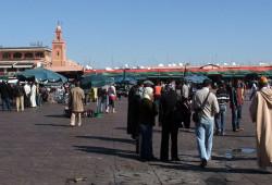 Praça Jemaa El Fna, em Marrakech, Marrocos