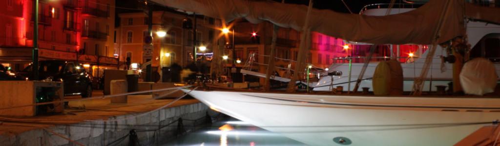 Porto de Saint Tropez, uma noite de Natal