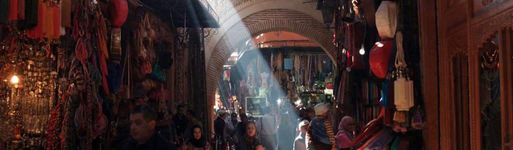 Fotos dos zocos de Marrakech