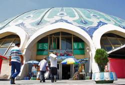 Chorsu Bozori, o mercado de Tashkent